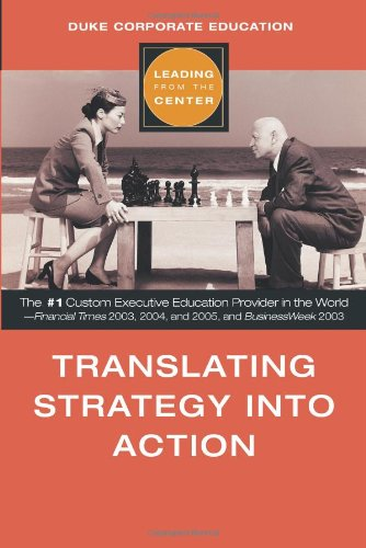 9780793195206: Translating Strategy into Action (Leading from the Center)