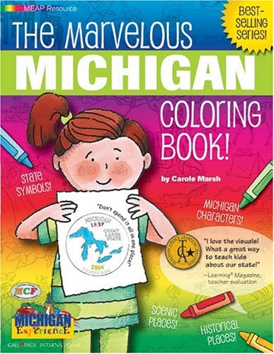 9780793395675: The Marvelous Michigan Coloring Book! (Michigan Experience)