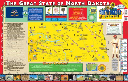 9780793397785: Gallopade Publishing Group 22 x 34 Inches The North Dakota Experience Poster/Map (9780793397785)