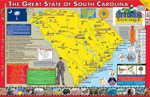 9780793397815: South Carolina Poster Map