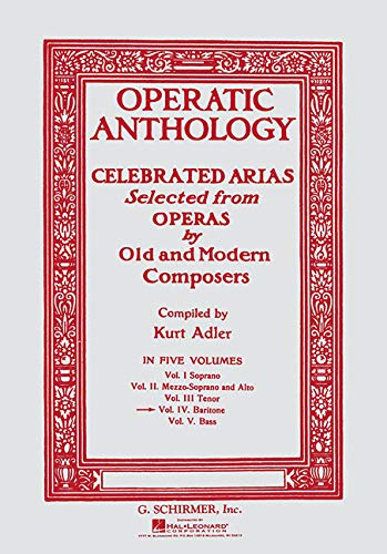 Operatic Anthology Volume IV: Baritone (Paperback)