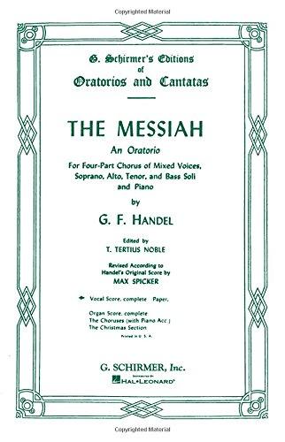 9780793505074: Messiah (Oratorio, 1741) - Complete Vocal Score (G. Schirmer's Editions of Oratorios and Cantatas)
