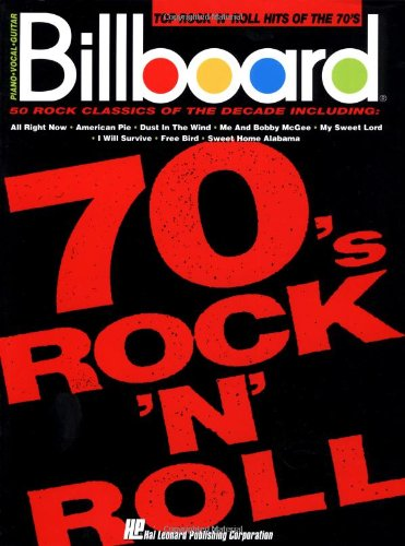 9780793508334: Billboard Top Rock 'n' Roll Hits Of The 70's (Piano Vocal Guitar)
