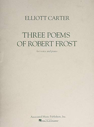 9780793513260: Three Poems of Robert Frost: Voice and Piano