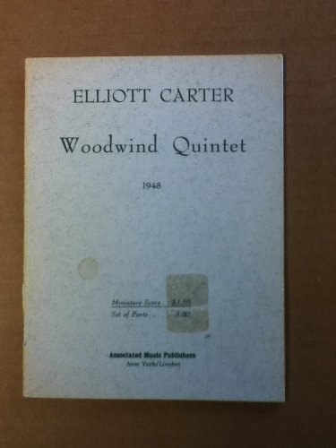 WOODWIND QUINTET (1948) FOR FLUTE OBOE CLARINET