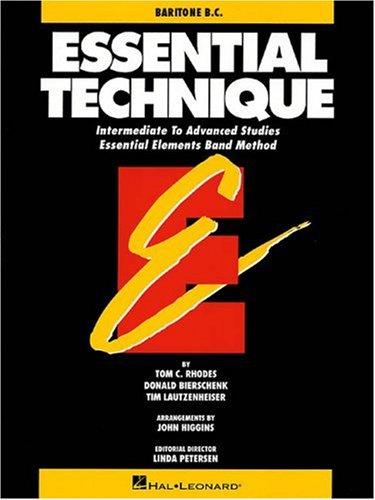 9780793518128: ESSENTIAL TECHNIQUE ORIGINAL SERIES (BLACK) BARITONE B.C. INTERMEDIATE/ADVANCED STUDIES