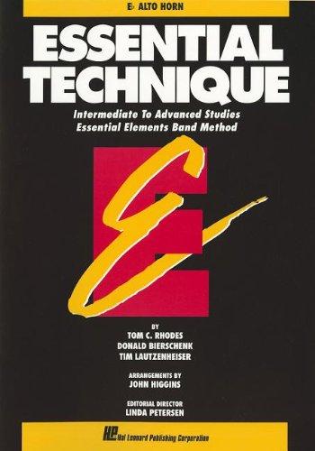 9780793518180: ESSENTIAL TECHNIQUE ORIGINAL SERIES (BLACK)E-FL ALTO HORN INTERMEDIATE/ADVANCED STUDIE (Essential Elements Band Method)