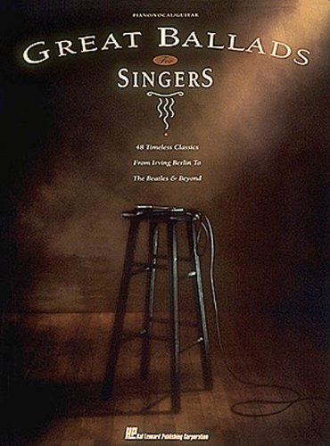 9780793522231: Great Ballads For Singers (Piano/Vocal/Guitar Songbook)