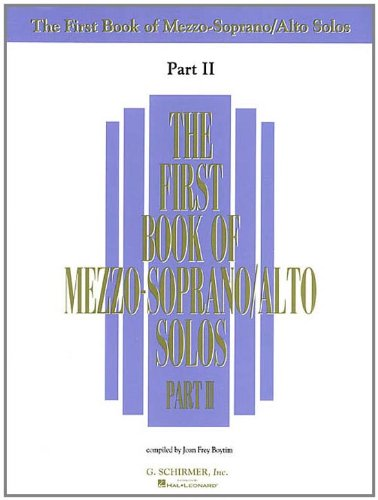 9780793524952: The First Book of Mezzo-Soprano/Alto Solos - Part II