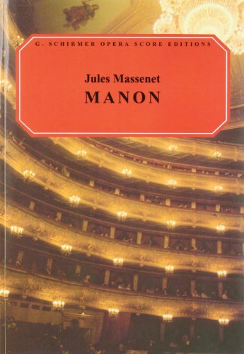 9780793525478: Manon: Vocal Score