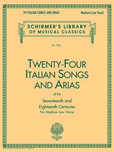 9780793525546: Twenty-Four Italian Songs and Arias of the 17th and 18th Century: Medium Low Voice