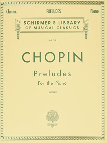 9780793525911: Chopin - Preludes for the Piano, Vol. 34