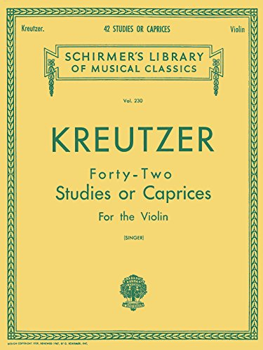 9780793525942: Kreutzer - 42 Studies or Caprices: Violin Method (Schirmer's Library of Musical Classics)