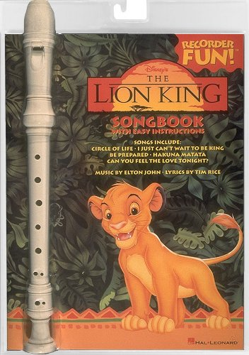 9780793532308: Hal Leonard The Lion King Recorder Fun Pack