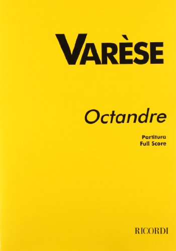 OCTANDRE FOR 8 INSTRUMENTS STUDY SCORE REVISED BY CHOU WEN-CHUNG: RICORDI
