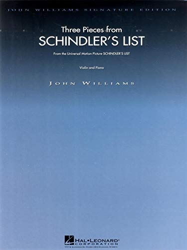9780793535842: Three Pieces from Schindler's List Violin and Piano: 3 Pieces for Violin and Piano