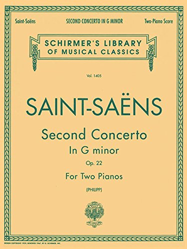 9780793538874: Camille Saint-Saens Piano Concerto No.2 In G Minor Op.22 (2-Piano Sco