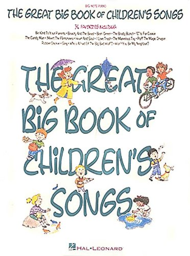 9780793539208: The Great Big Book Of Children's Songs (Big-Note Piano)