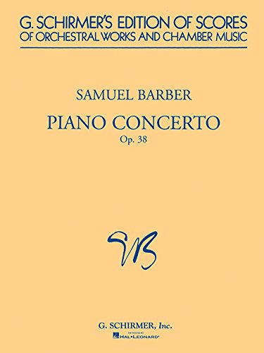 9780793539468: Piano Concerto, Op. 38: Study Score (G. Schirmer's Edition of Scores of Orchestral Works and Chamber Music)