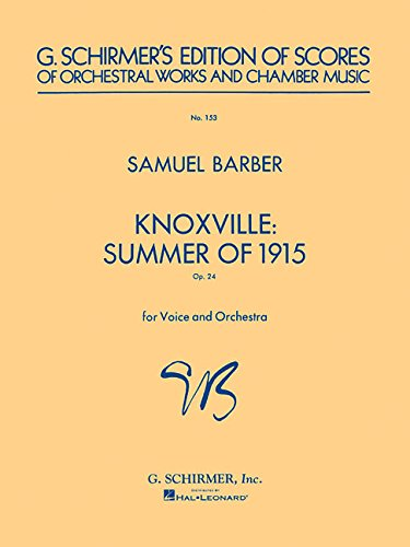9780793540815: Knoxville: Summer of 1915