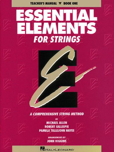 9780793543090: Essential Elements for Strings, Teacher's Manual, Book One: A Comprehensive String Method: 1