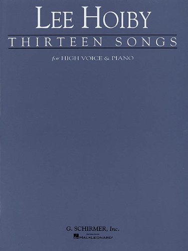 9780793543847: Thirteen Songs: Voice and Piano