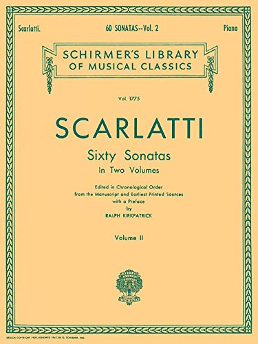 9780793543960: Scarlatti: 60 Sonatas - Volume 2 [G. Schirmer]
