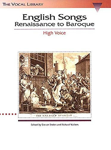 9780793546329: English songs: renaissance to baroque (Vocal Library)