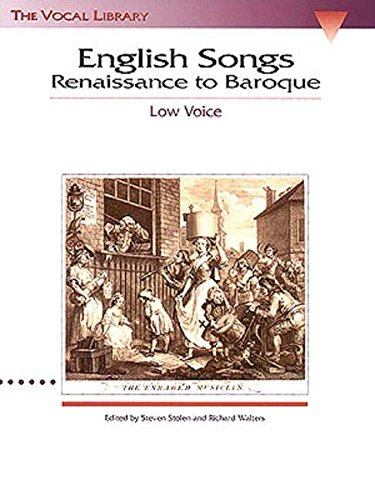 9780793546336: English Songs: Renaissance to Baroque: The Vocal Library Low Voice