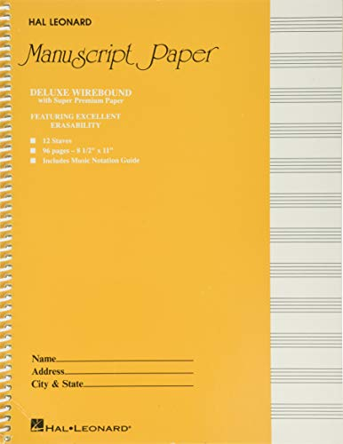 9780793547630: Deluxe Wirebound Super Premium Manuscript Paper (Gold Cover)