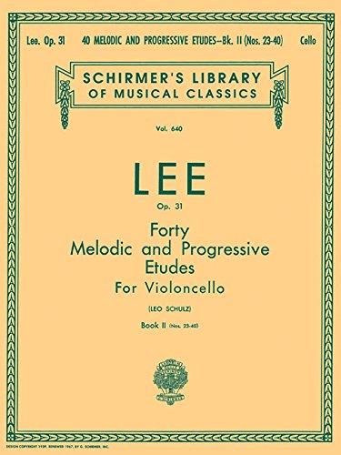 9780793548712: 40 Melodic and Progressive Etudes, Op. 31 - Book 2: Cello Method (String Solo)