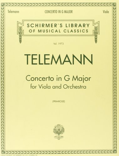 9780793548729: Concerto in G (Schirmer's Library of Musical Classics,Vol. 1973)