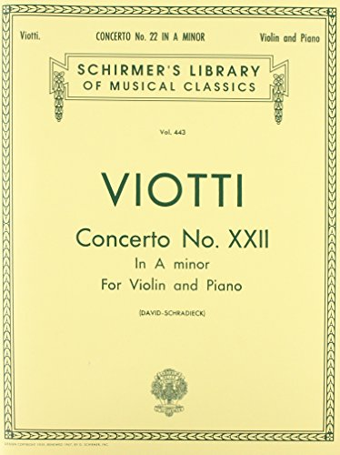 9780793549498: CONCERTO NO 22 IN A MINOR VIOLIN AND PIANO