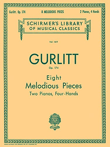 9780793549504: 8 Melodious Pieces, Op. 174: Piano Duet (Schirmer's Library of Musical Classics)