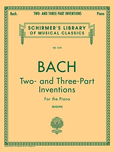 9780793549948: Bach: Two- And Three-Part Inventions for the Piano (Schirmer's Library of Musical Classics)