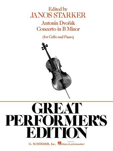 CONCERTO B MINOR GREAT PERFORMERS EDITION FOR CELLO PIANO