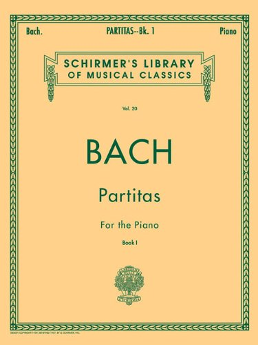 9780793551125: Partitas for the Piano, Book 1 (Schirmer's Library of Musical Classics, Vol.20)