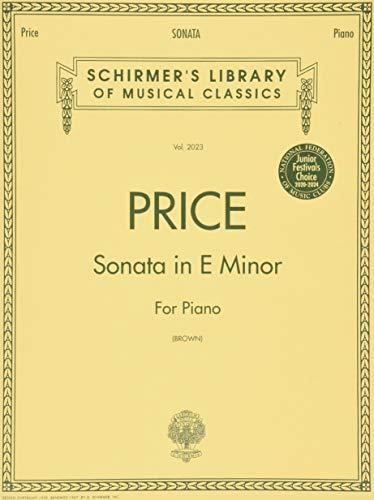 9780793551309: Sonata In E Minor Pno Piano Solo (Schirmer's Library of Musical Classics)
