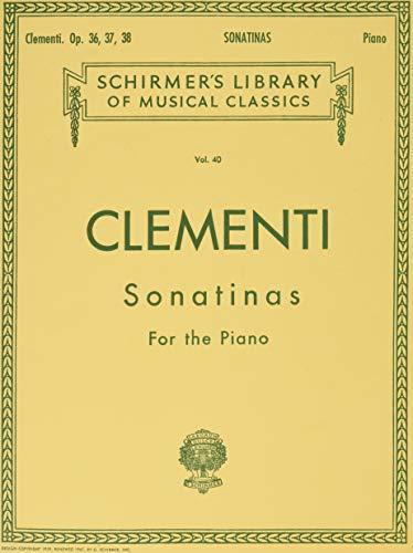 9780793551736: Clementi: Sonatinas, Op. 36, 37, 38 (Schirmer's Library of Musical Classics, Vol.40)