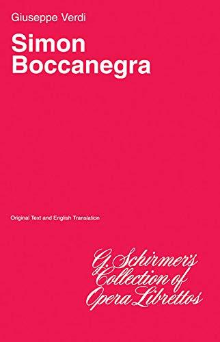 9780793552108: Simon Boccanegra: Libretto