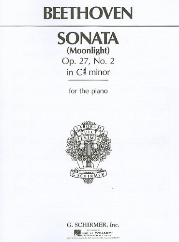9780793552894: Beethoven Sonata Moonlight: Op. 27, No. 2 in C# Minor for the Piano