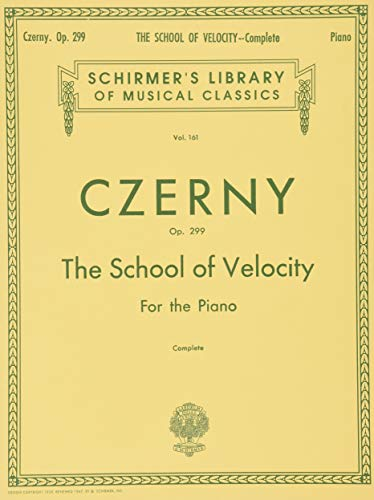 9780793552900: The School of Velocity, Op. 299 (Complete): For The Piano (Schirmer's Library of Musical Classics Vol. 161)
