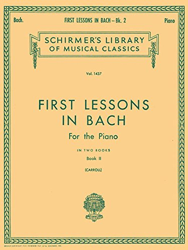 FIRST LESSONS IN BACH BK2 PIANO SOLO
