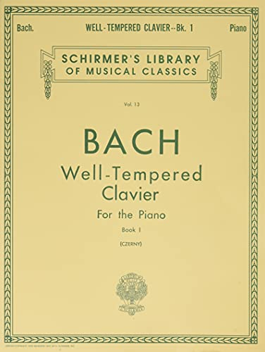 9780793553105: Well Tempered Clavier - Book 1 (Schirmer's Library of Musical Classics Vo. 13)
