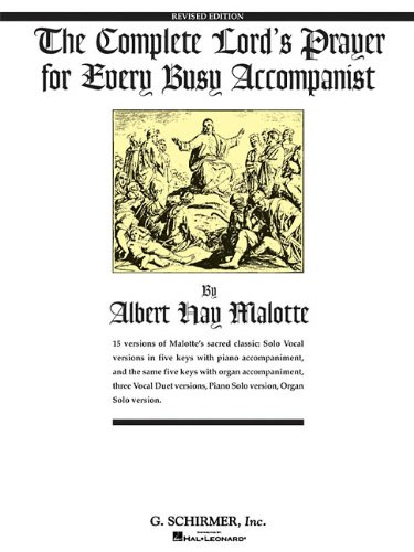 9780793553211: The Complete Lord's Prayer for Every Busy Accompanist: Revised Edition with 3 added duet arrangements (Vocal Collection)