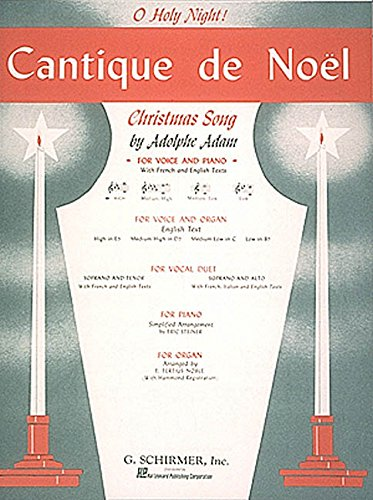 9780793553389: Cantique de Noel (O Holy Night) - High Voice and Piano - PART