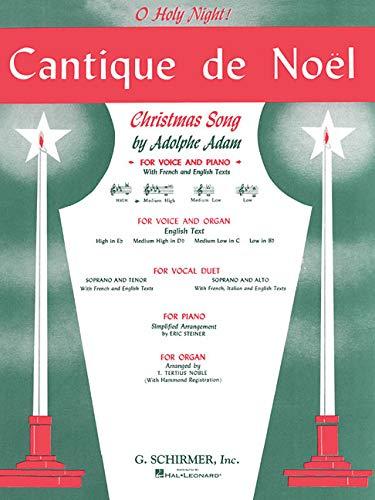 9780793553419: Cantique De Noel O Holy Night French English Medium High D Flat Voice Piano