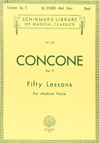9780793553440: 50 Lessons, Op. 9: Medium Voice