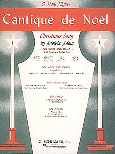 9780793553457: Cantique de Noel (O Holy Night) - Low Voice and Piano - PART