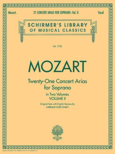 9780793553488: 21 Concert Arias for Soprano - Volume II: Schirmer Library of Classics Volume 1752 Voice and Piano